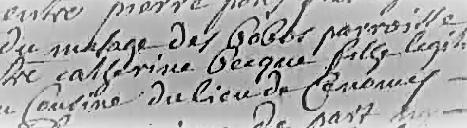 Catherine Bec 1700